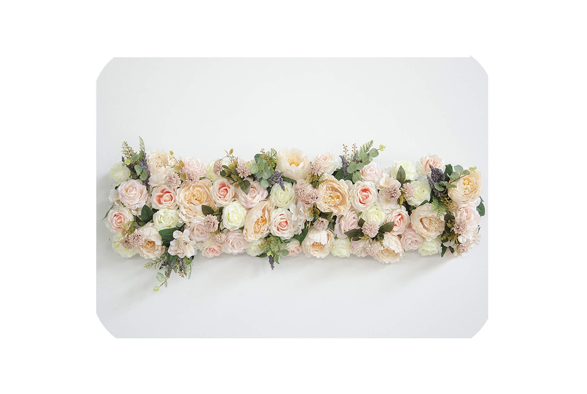 Custom 1 M Wedding Backdrop Arch Decor Artificial Flower Row Decor Flower Arch Road Lead Flower Arrangement Silk Flower Wall 1pc 005 Silk Flower Arrangements