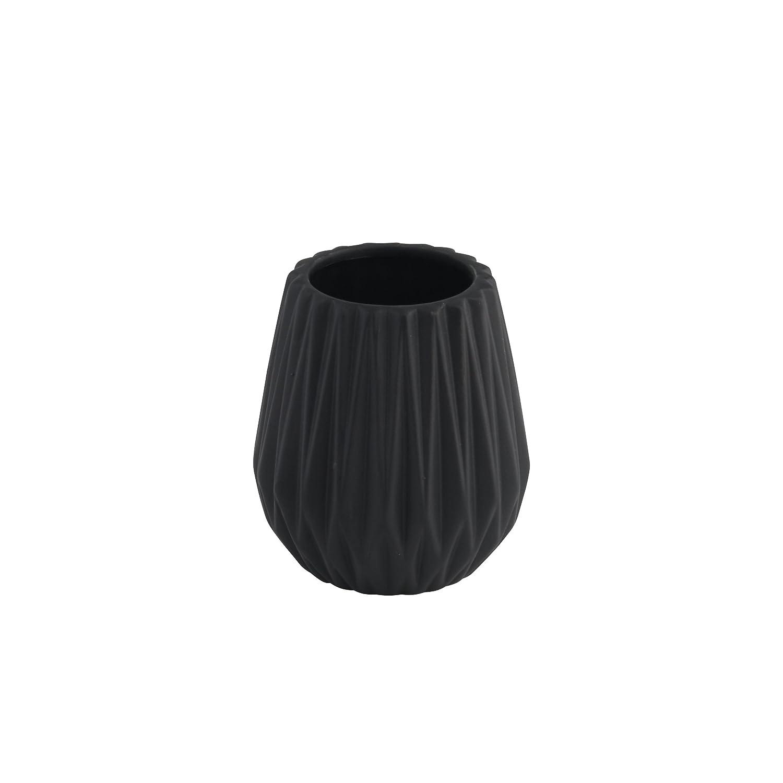 Seifenspender WC-Bürste Zahnputzbecher Toilettenbürste schwarz kupfer Keramik Becher Warenimport
