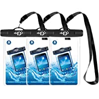 """HeySplash Waterproof Phone Case, [3-Pack] Underwater Clear Cellphone Pouch Dry Bag with Lanyard Compatible with iPhone X/XS/8/7/6s/6 Plus, Samsung S9 S8, Huawei P20, Mate20 Pro, more up to 6"""""""