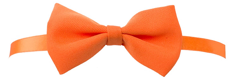 Papillon per bar o gelateria in tessuto arancione unisex taglia unica MA0109