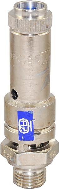 TÜv Sicherheitsventil Überdruckventil Kompressor 11bar G 3 8 Ms Vernickelt Baumarkt