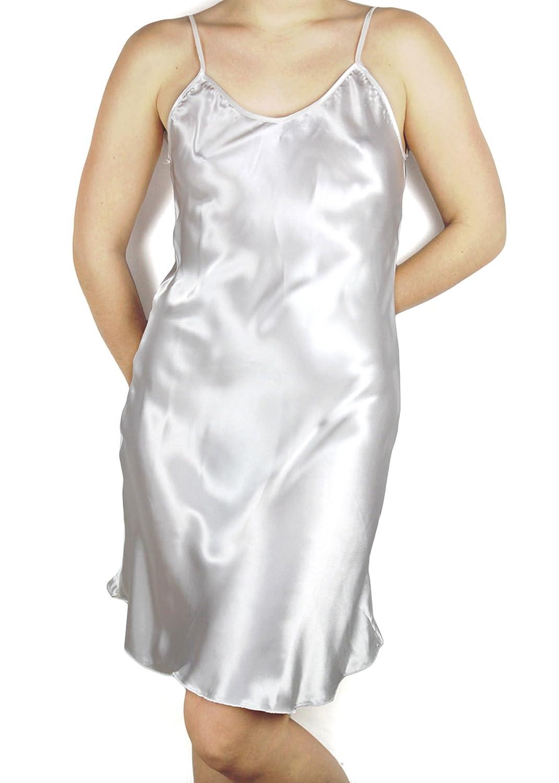 Evolatree Silky Satin Chemise Lingerie - Babydoll Nightgown 16-005-Babydoll-1