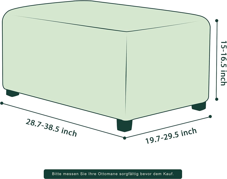 Beige YXLJC Osmanische Schonbezug Quadratisch rutschfest Ausziehbare Sitzhocker Elastisch Bezug F/ür Fu/ßhocker