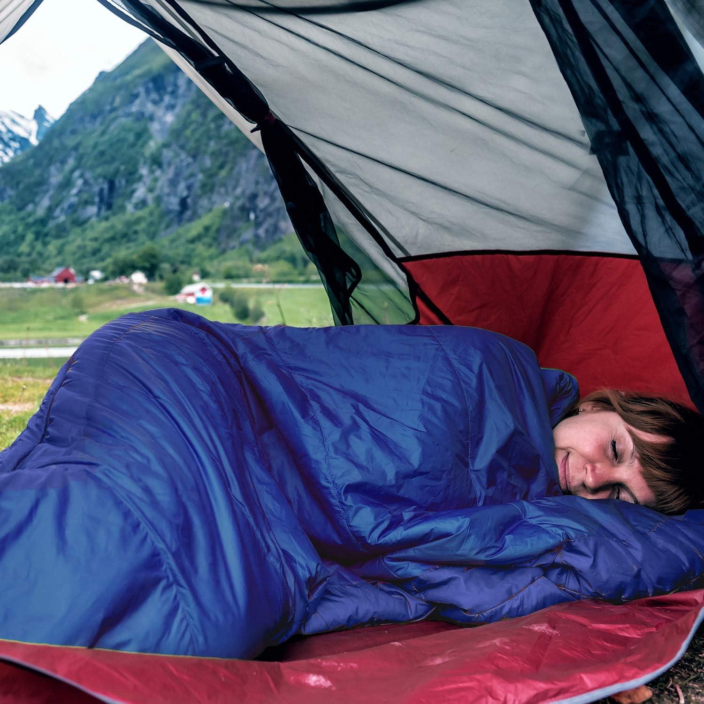 Herbst und Fr/ühling warm gipfelsport Mumienschlafsack Outdoor Schlafsack f/ür Erwachsene und Kinder Mini Sleeping Bag f/ür Winter kleines Packma/ß klein
