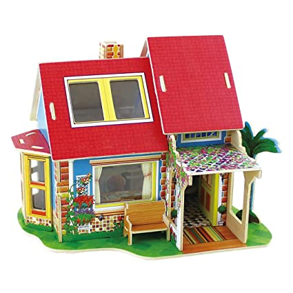 Amazon Com Robotime Dollhouse Furniture Set Wooden Miniature