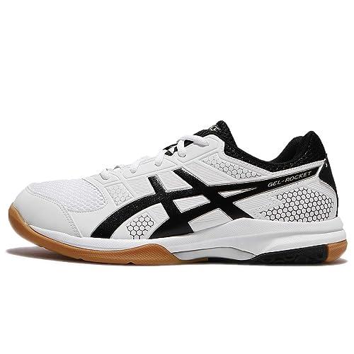 Gel-Rocket 8 White Badminton Shoes-7 UK