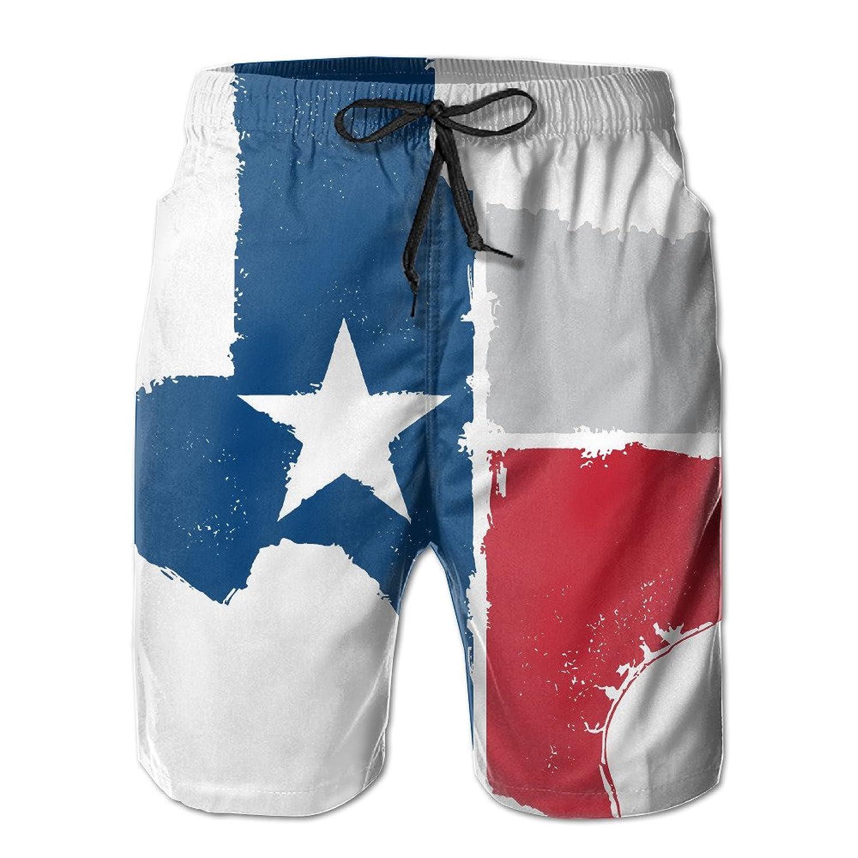 Texas State Flag Vintage Men's Fit Surf Runner Swim Trunks