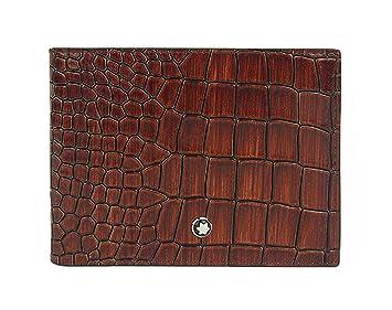 Cartera para hombre de piel, diseño clásico de cocodrilo marrón carry-on: Amazon.es: Equipaje