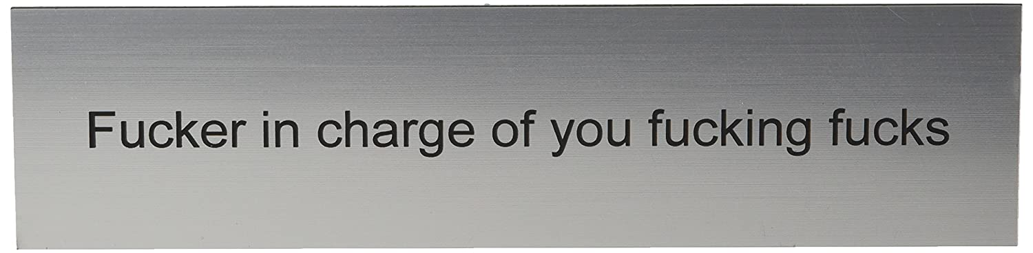 Funny Desk Plate for Boss - Gag Gift Holmes Stamp & Sign