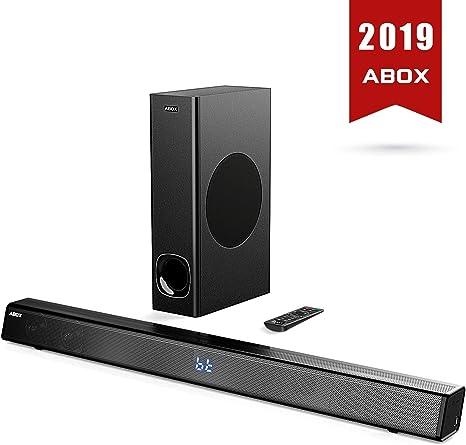 Sonido con subwoofer, ABox Sound Bar para TV, 120 W, Home Cinema Sonido Surround, Bluetooth 4.2,