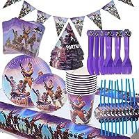 Babioms Game Party Supplies, Diseño de vajilla para fiestas incluye pancartas, platos, tazas, servilletas, gorro…