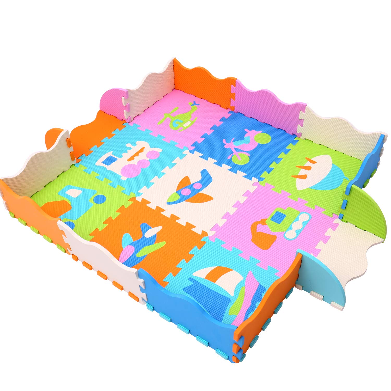 XMTMMD Tappeto Puzzle con Animali Colori Assortiti Bambini Puzzle Giocare Mat colorato Morbido Non tossico Jigsaw Schiuma Pavimenti e Giocattoli AMZP009B3010