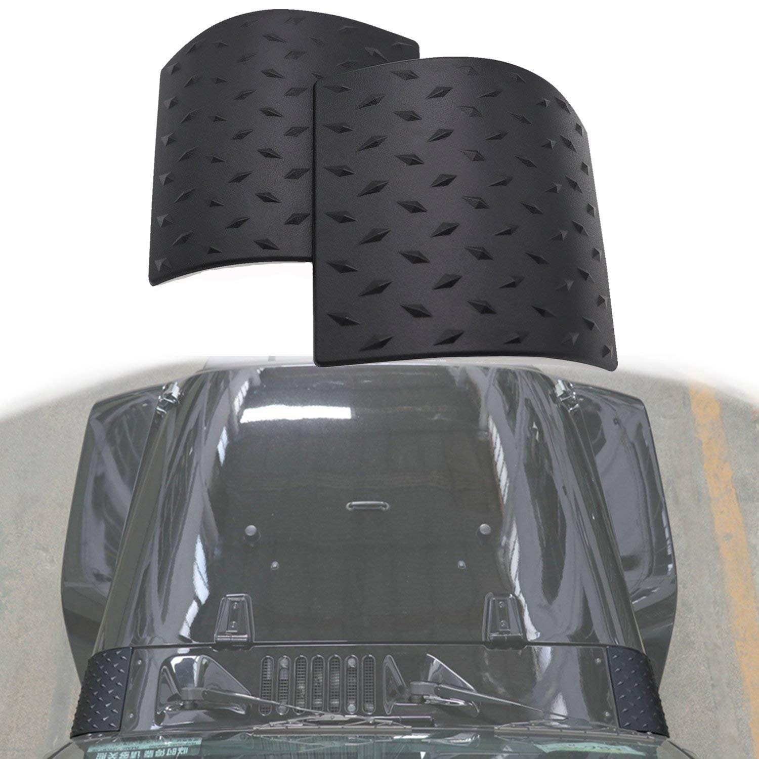 Yoursme Black Cowl Body Armor 2 X ABS Side Cowling Cover Protector Fits for Jeep Wrangler JK JKU Unlimited Rubicon Sahara X Off Road Sport Exterior Accessories Parts 2007-2017