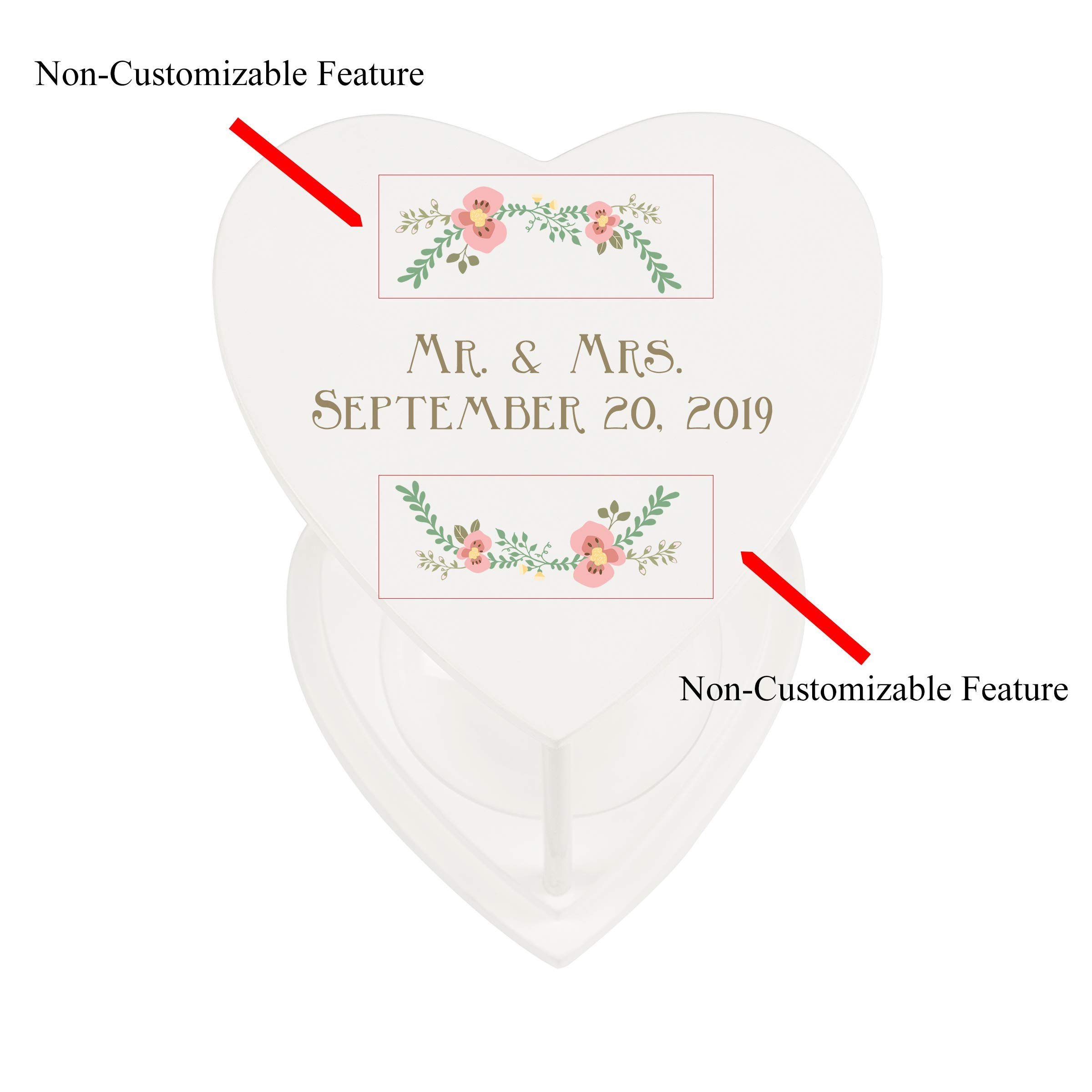 Cathy's Concepts Personalized Floral Unity Sand Ceremony Hourglass Set by Cathy's Concepts (Image #9)