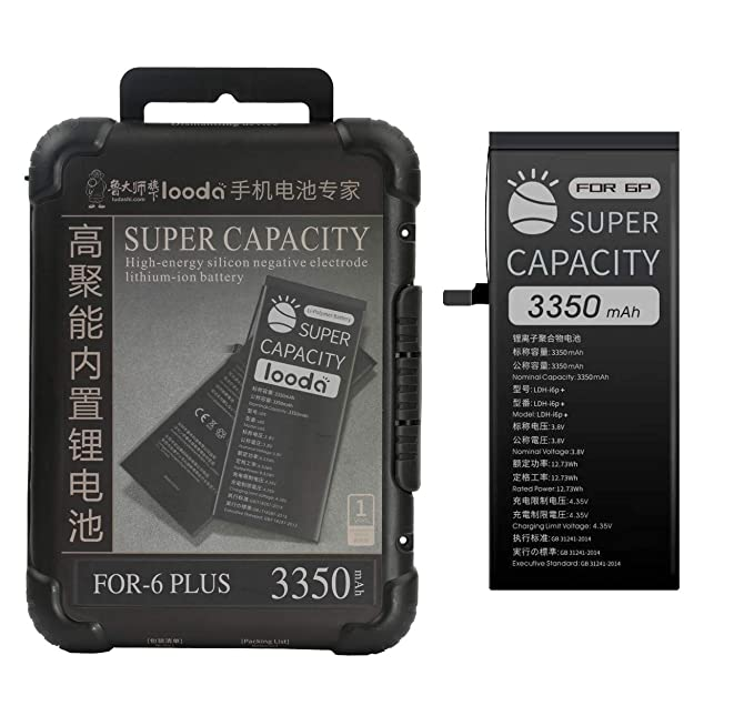 competitive price c45a1 93b32 3350 mAh Replacement Battery Compatible for iPhone 6 Plus,Super Capacity  Power UP Li-ion Battery with Repair Tool Kits Box[24 Months Warranty]