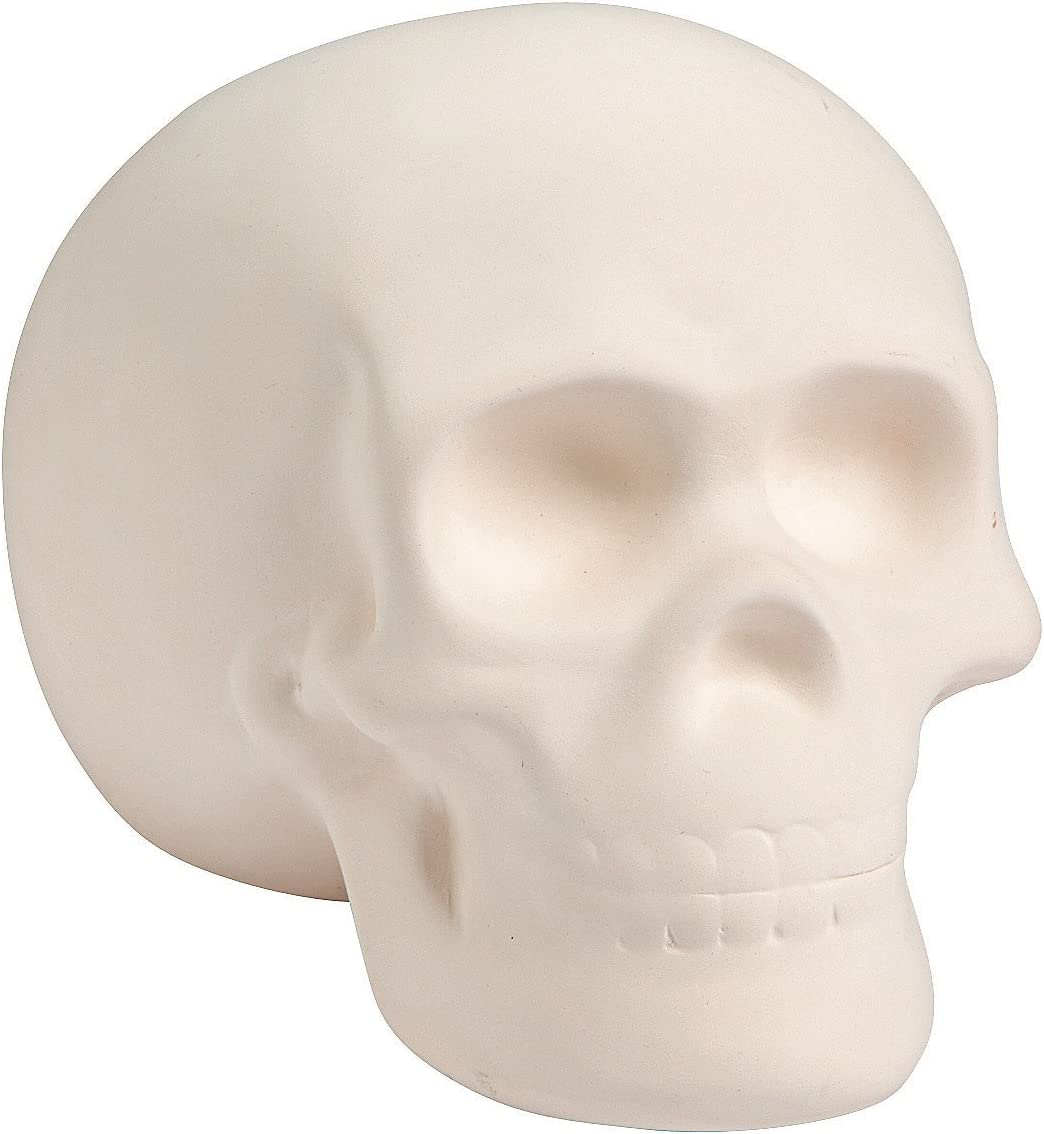 Fun Express DIY Ceramic Skull - Halloween Crafts and Home Decor