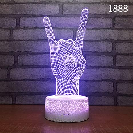 CFLEGEND Luz De La Noche 3D Crack 149 Lámpara De La Novedad Del ...
