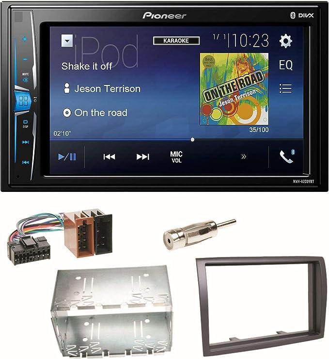 Pioneer Mvh A200vbt Usb Bluetooth Mp3 Wma Autoradio 2 Din Moniceiver Einbauset Für Fiat Ducato Boxer