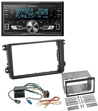 JVC mp3 USB CD 2din aux radio del coche para VW Touareg t5 Caravelle Multivan 02-10