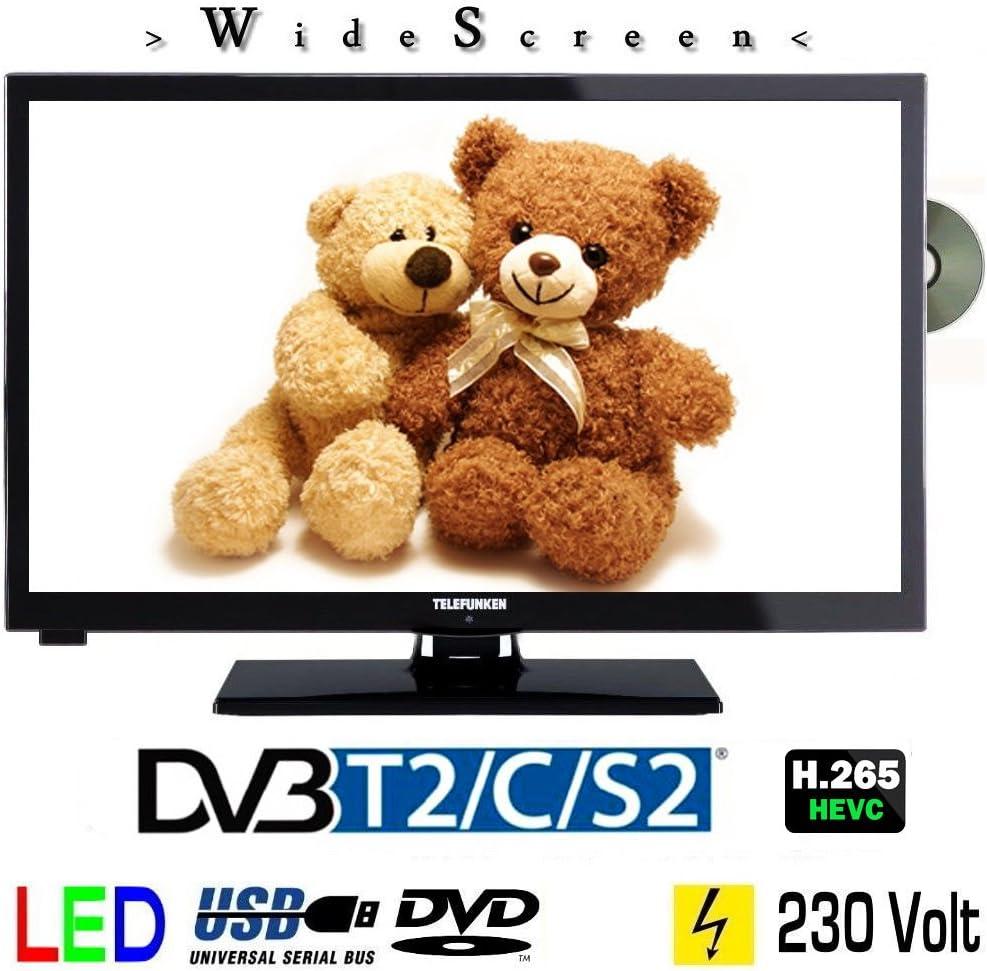 Telefunken l247h27 4 K4dvi LED TV DE 24 Pulgadas 61 cm, TV con DVB-S/S2, DVB-T2, DVB-C, DVD, USB, Clase de eficiencia energética A +, 230 V: Amazon.es: Electrónica