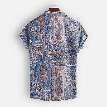 Camisa Hombre, Dragon868 Niño Camisa Hawaiana de Manga Corta con Estampado de Estilo éTnico, Playa de Verano, Moda Impresión Blusa Suelta Beach Tops, Camisas Hawaianas para Vacaciones, S-XXXL