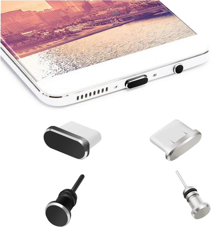 OOTSR antipolvo Tapones compatibles con tipo C carga puerto y enchufe para auriculares, dispositivo antipolvo para tipo C Como Samsung Galaxy Note 8/9/S9/S9+/S10/S10+/HTC10/U11/U11 +/OnePlus5 /5T/6/6T