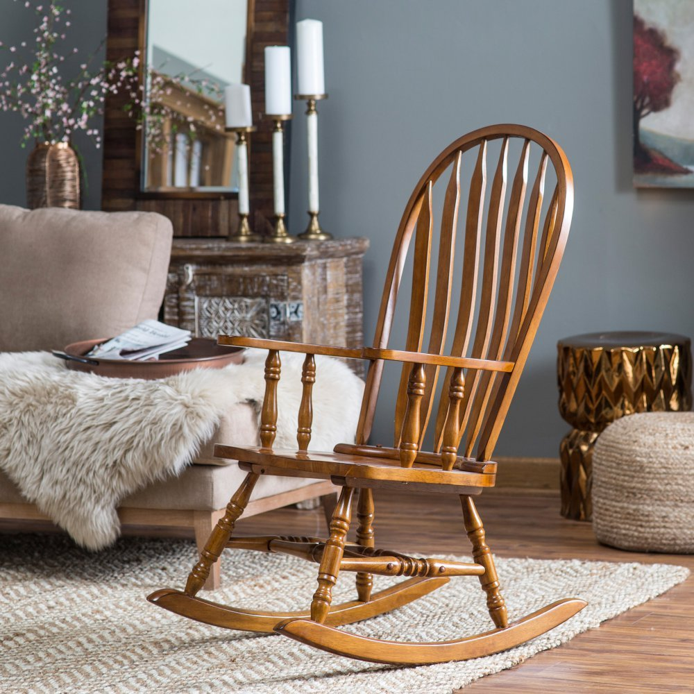 Amazon com belham living windsor rocking chair oak kitchen dining