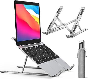 """ivoler Soporte Portátil Mesa 10 Ángulos Ajustables, Aleación de Aluminio, Soporte Ordenador Portatil Ventilado Plegable para 10-15.6""""Macbook, DELL, ..."""