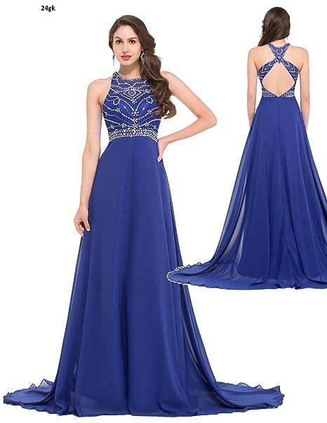 Vestidos de fiesta en azul largos