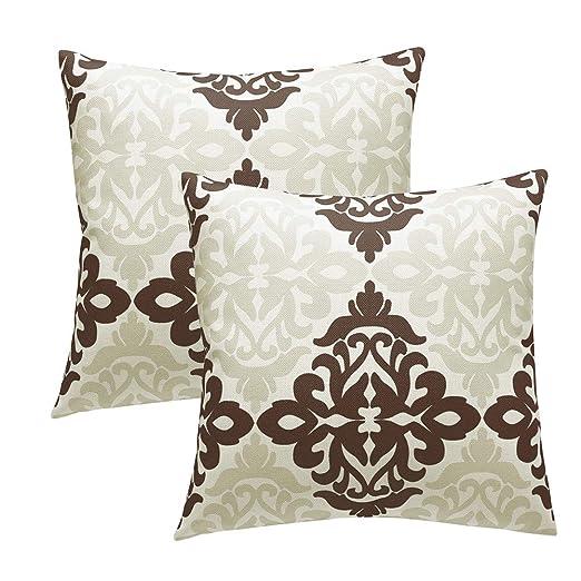 MRNIU 2 Piezas fundas cojines sofa 45 x 45 cm Marrón cojines decoracion almohadas de Decoración para el Hogar Dormitorio Tapizado Fundas Cojines 18 x ...