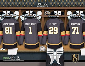 best sneakers d0074 e396c Personalized Vegas Golden Knights Wall Poster, Locker Room ...
