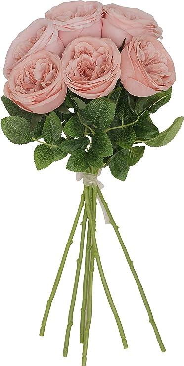 "Blush Rose 23/"" Bush Microfiber 24 Blooms Artificial Silk Flower Wedding Bride"