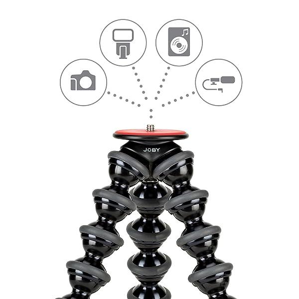 JOBY GORILLAPOD 5K STAND. SOPORTE PREMIUM TRÍPODE FLEXIBLE 5K para cámaras DSLR Pro-Grade o dispositivos de hasta 5K (11lbs). Negro / Carbón