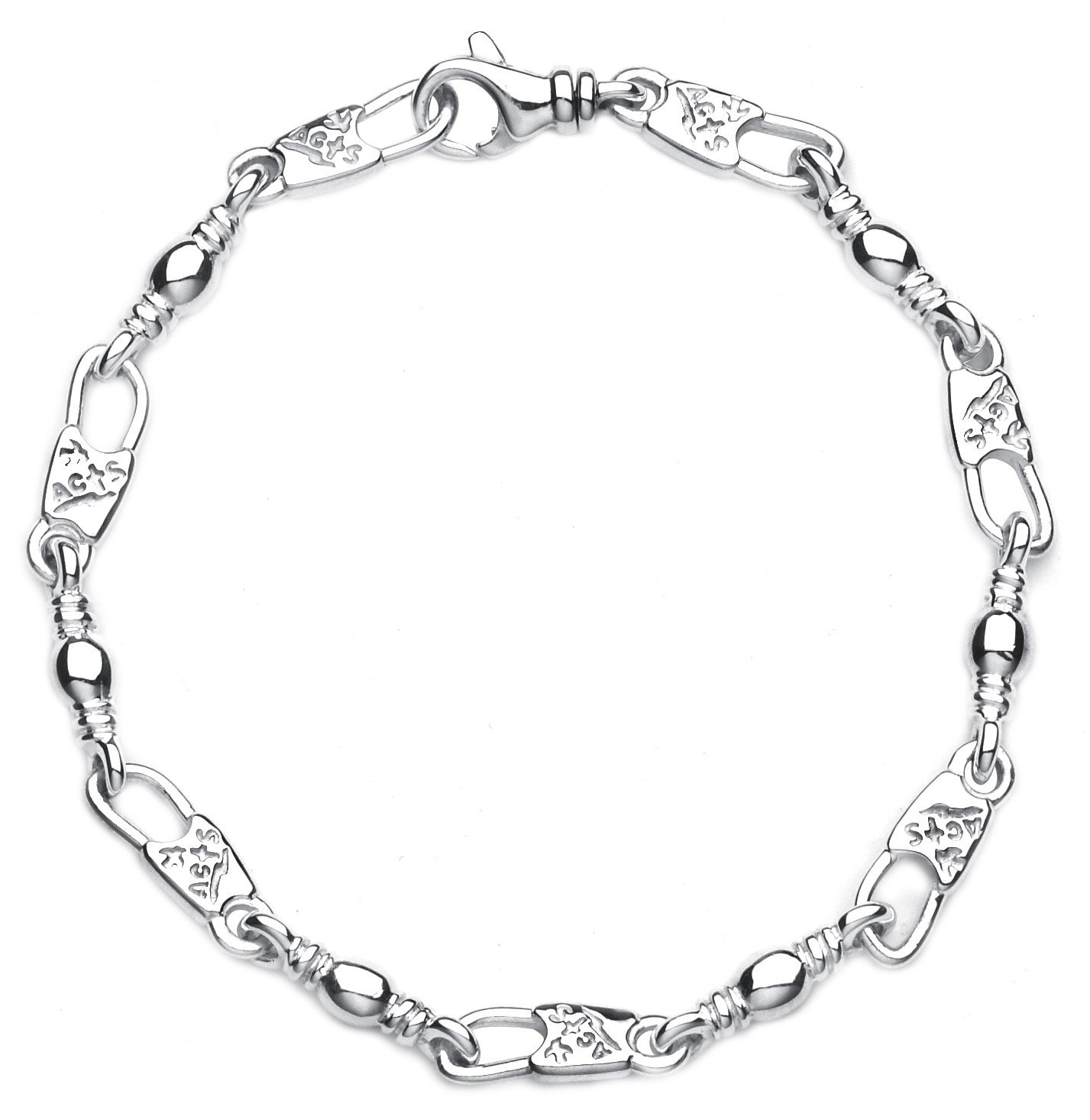 Youth Ladies Acts Jewelry Small Link Fisher of Men Bracelet (8.50)