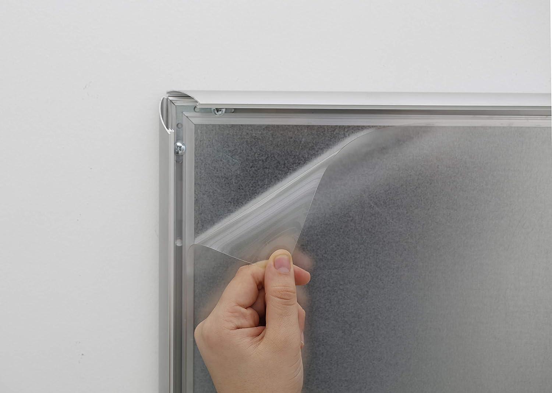 2 St/ück 0,3 mm dick Ersatzfolie Klapprahmen Plakatrahmen DISPLAY SALES Antireflex PET-Schutzfolie DIN A4
