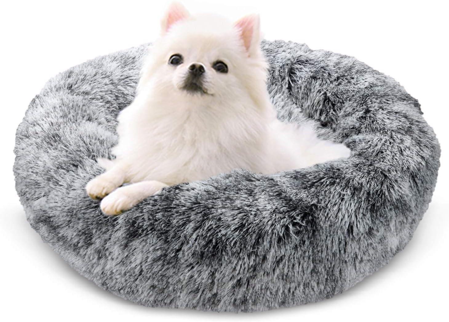 Cama con coj/ín para Mascotas para Perros y Gatos de tama/ño Mediano Cama para Gatos Donut para Perros de 60x60 cm Juguete de Felpa de Piel sint/ética Pelusa Docatgo Cama para Mascotas