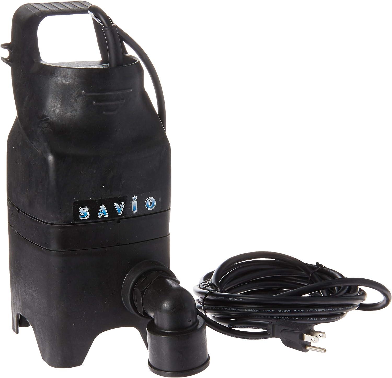 Savio Engineering WMS2050 Water Master Solids Handling Pump 2, 050 GPH, Black : Garden & Outdoor