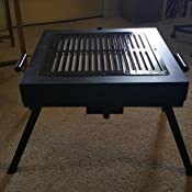 Amazon Com Global Outdoors Portable Fire Pit Grill Flame