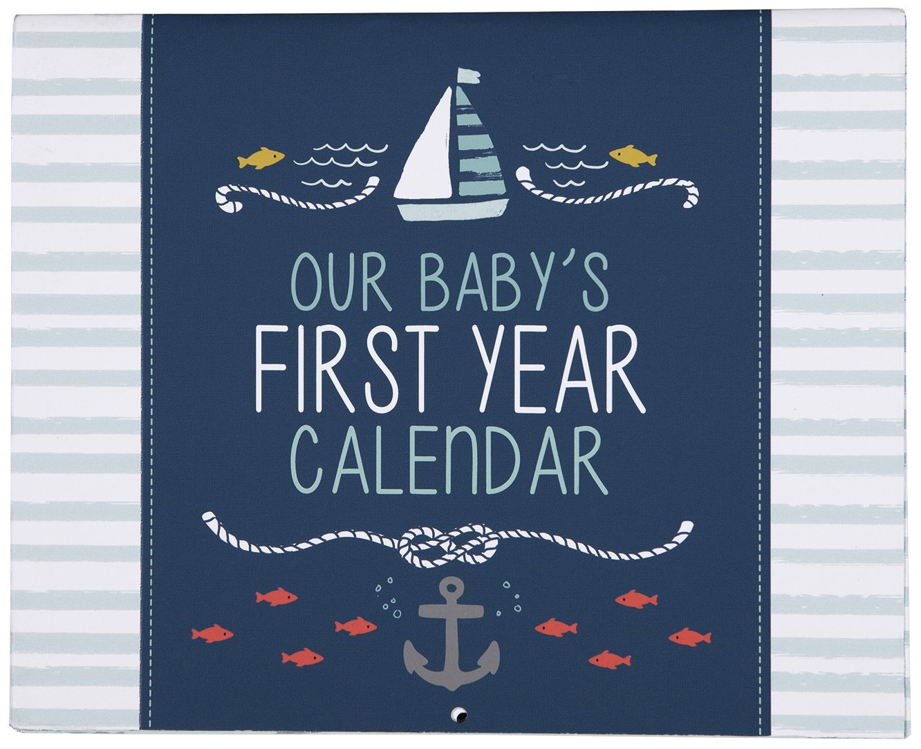 "C.R. Gibson Baby's First Year Calendar, By Carter's Stickers Provided, Measures 11 x 18"" - Under The Sea"