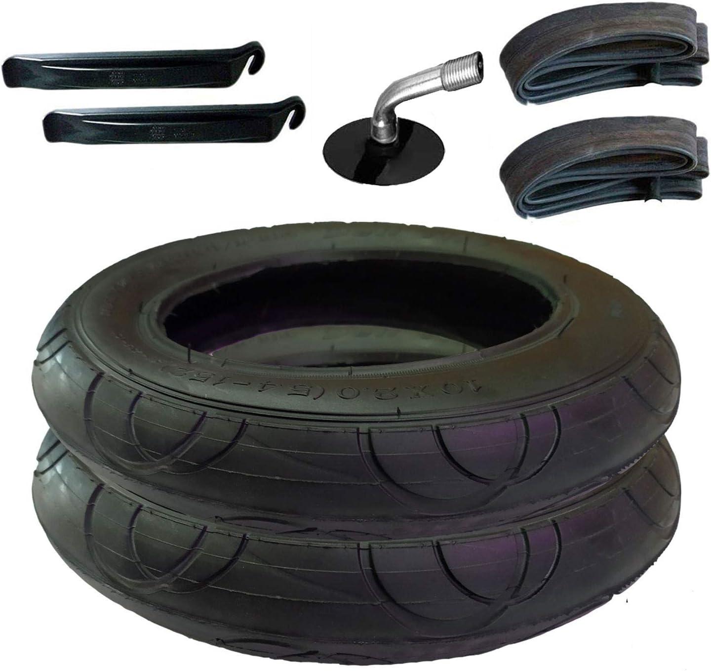 2 Stück Reifen Schlauch Mit Winkelventil 10 X 2 Plus Montagehebel Sport Freizeit