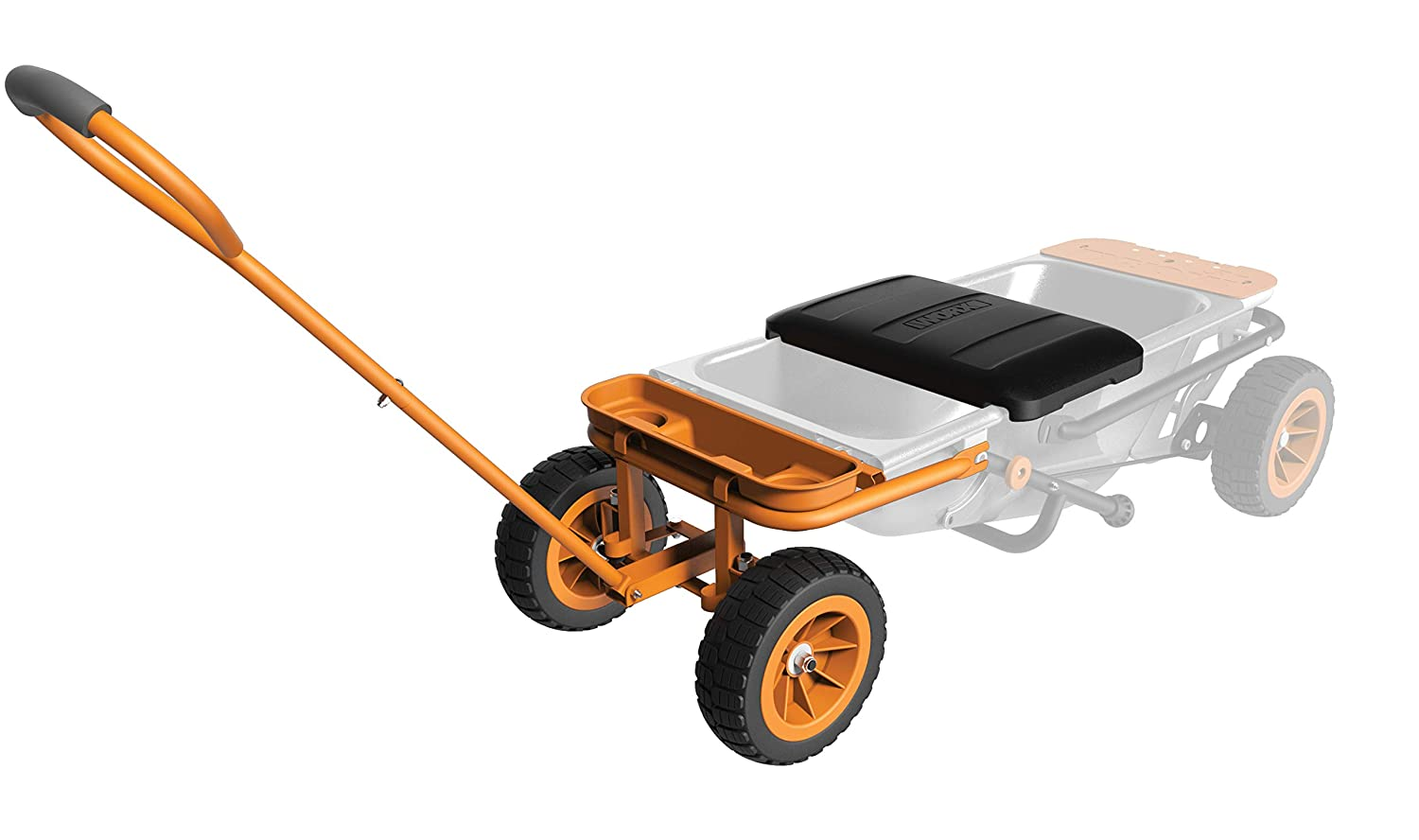 WORX WA0228 Aerocart Wheelborrow Wagon Kit, 19 x 10 x 21 , Orange, Black, and Silver