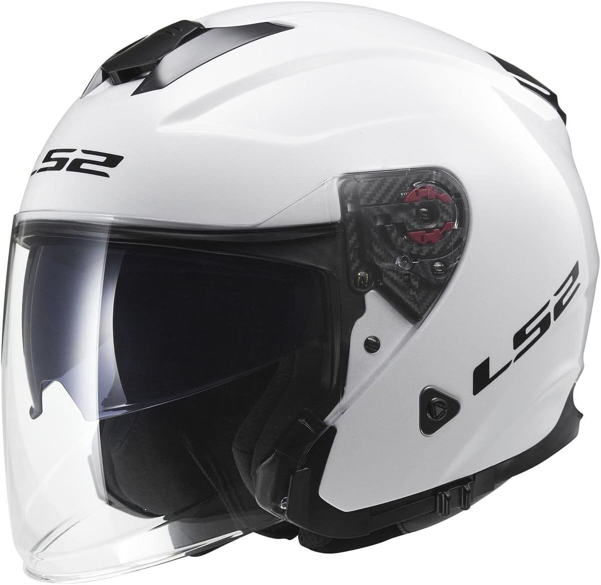 Matte Black, X-Large LS2 Helmets Infinity Solid Open Face Motorcycle Helmet with Sunshield