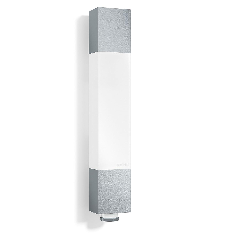 Steinel LED Außenleuchte L 631 LED anthrazit, 360° Bewegungsmelder, 8 m Reichweite, 663 lm, 8.2 W, Unterkriechschutz, 6,5 x 36,4 x 6,1 cm, 020408 360° Bewegungsmelder 020408 020392