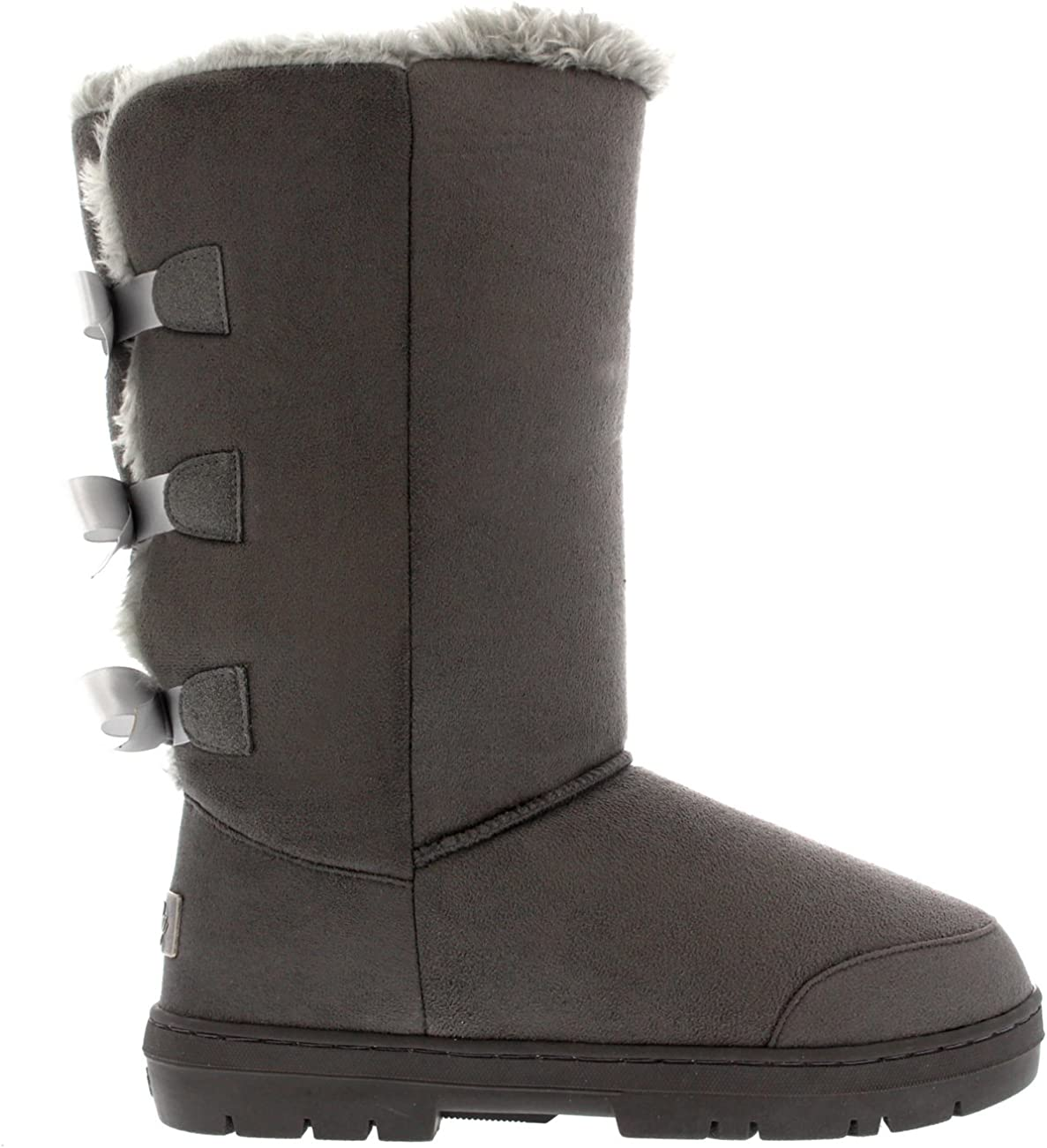 Mujer Triplet Bow Tall Classic Fur Impermeable Invierno Rain Nieve Botas