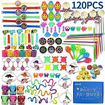 nicknack Goodie Bag Fillers para niños, 120PCS Prize Box Fillers, Regalos de Fiesta de cumpleaños Surtidos para niñas, premios de Carnaval, premios de ...