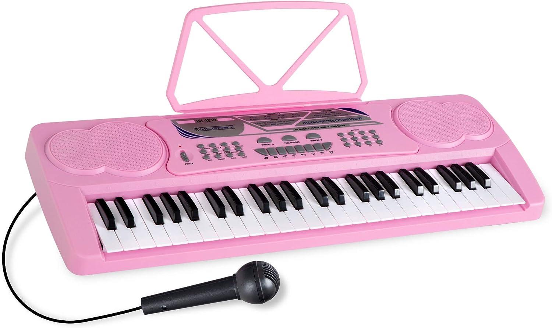 McGrey BK-4910PK teclado con 49 teclas y soporte notas Pink