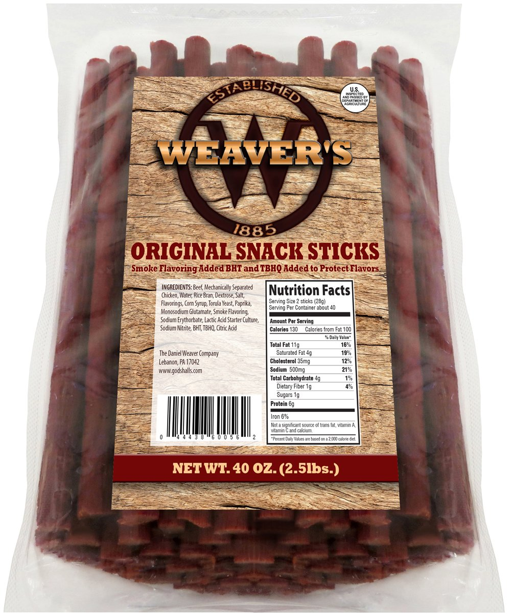 Amazon Com Weaver S Beef Sticks 80 Original Mild