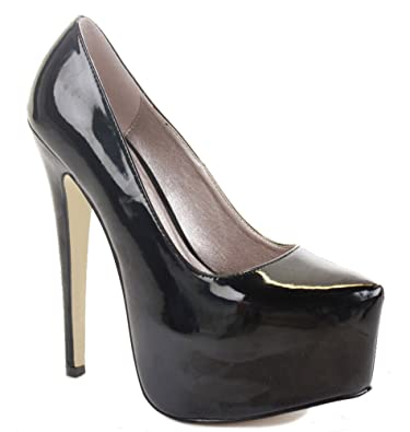 NEW WOMENS CONCEALED PLATFORM STILETTO LADIES HIGH HEEL CLASSIC ...