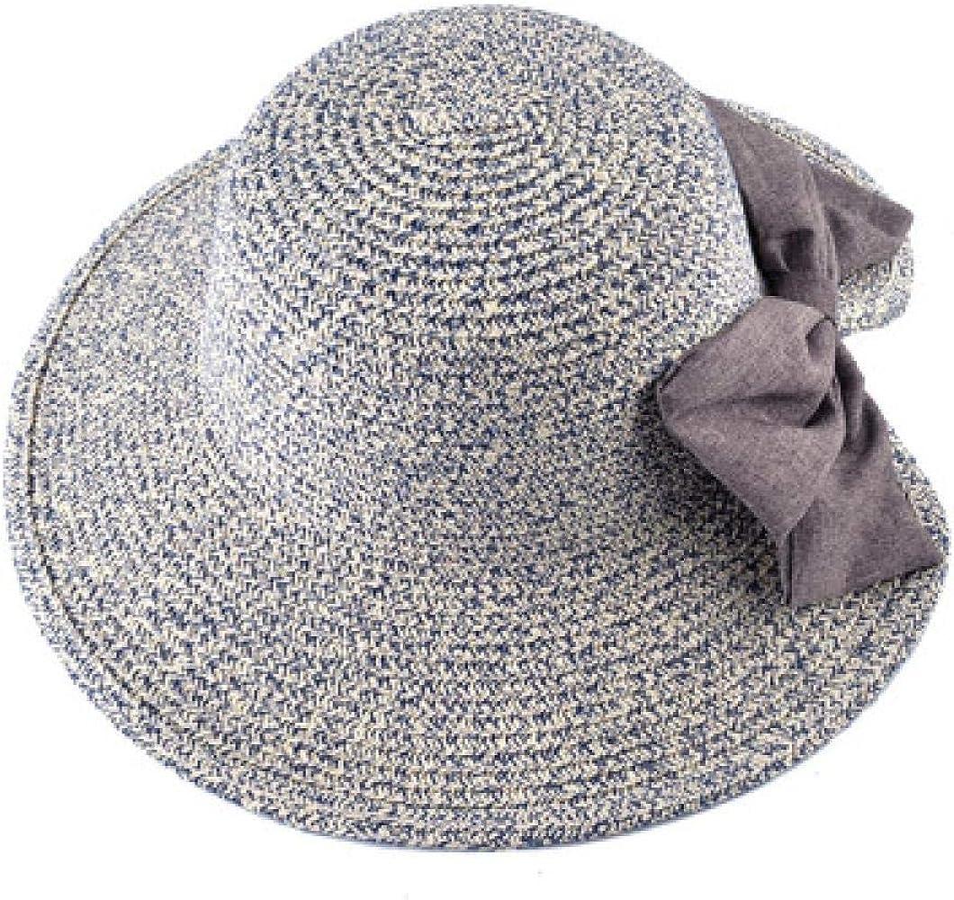 JKFJY FOLD Sombrero Visera de Verano Femenina Cara Grande Cara ...
