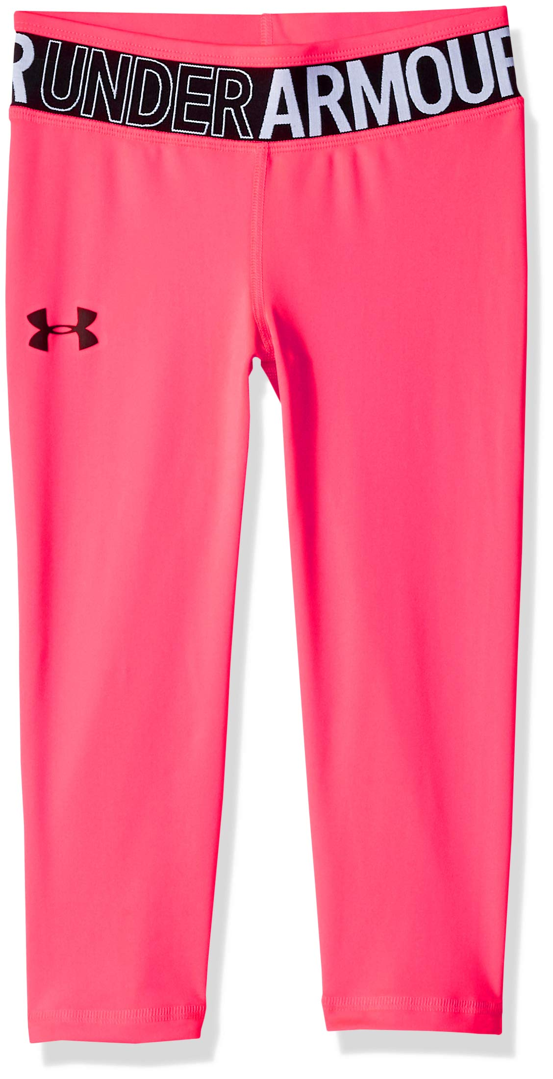 Under Armour Girls' HeatGear Armour Capri, Penta Pink (975)/Black, Youth X-Large by Under Armour